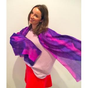 Purple and Pink scarf Image
