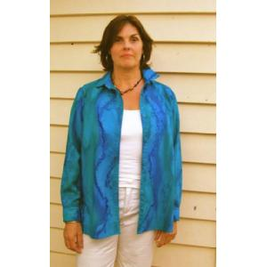 Turquoise Blue Sea- Fine Merino Wool Shirt Image